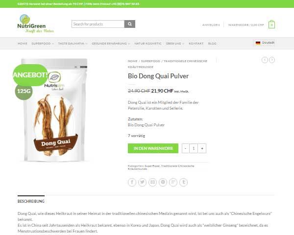Izrada eCommerce trgovine zdrave hrane u Švicarskoj