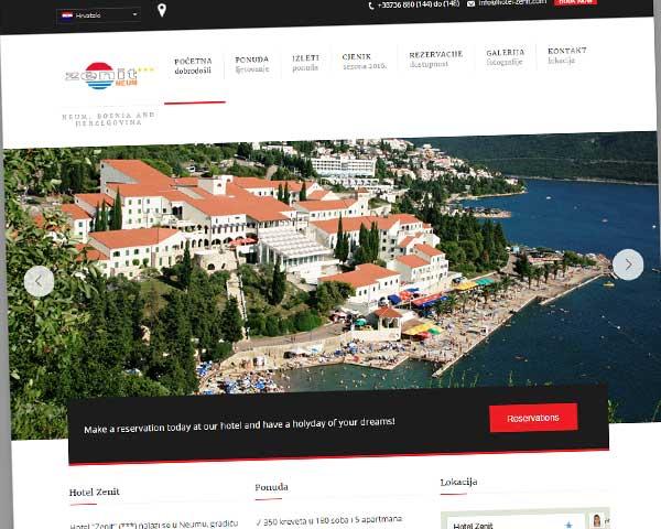 web stranice za hotel