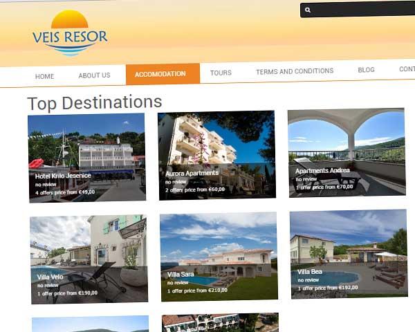 Izrada siteova za strane turističke agencije