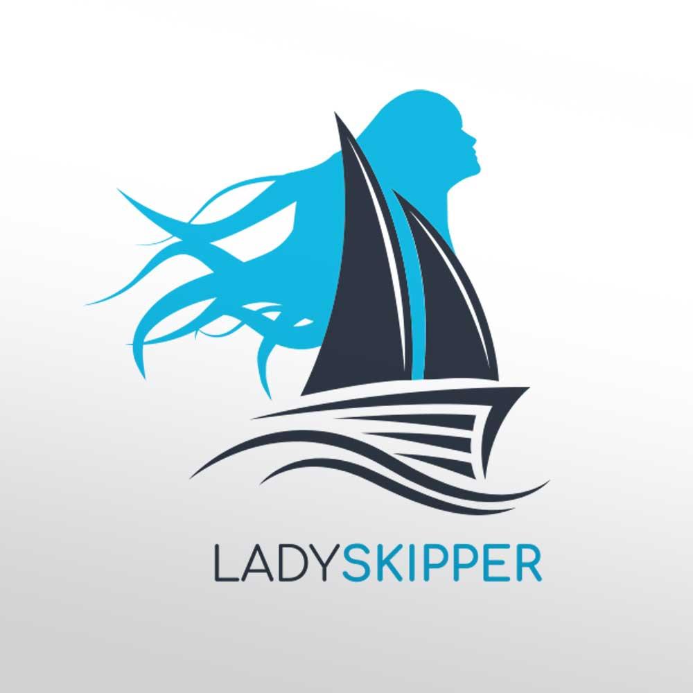 Logotip za Yacht Charter Lady Skipper