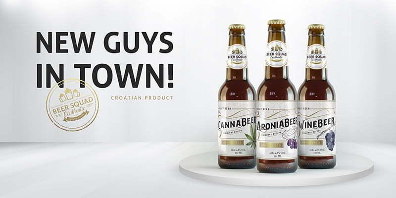 AroniaBeer WineBeer CannaBeer oglasna kampanja za izvoz